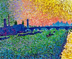 Fauvism Andre Derain - Waterloo Bridge, 1906 at Thyssen-Bornemisza Museum Madrid Spain Andre Derain, Henri Matisse, Raoul Dufy, Van Gogh, Fauvism Art, Maurice De Vlaminck, Waterloo Bridge, Georges Braque, Piet Mondrian