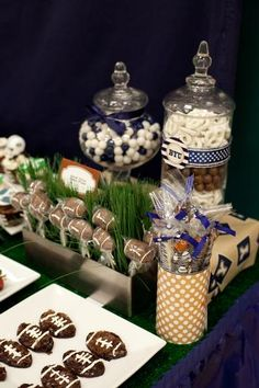 football party ~ Super Bowl decor ~ hostess with the mostess