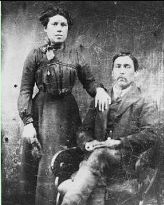 Thomas Wallace and his wife from Madawaska, Maine - Maliseet - circa 1890