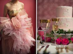 Pink, Blush and Gold Wedding Inspiration - Belle The Magazine Pink Champagne Wedding, Blush Pink Weddings, Gold Wedding, Dream Wedding, Wedding Blog, Wedding Ideas, Wedding Planning, Mon Cheri Wedding Dresses, 2015 Wedding Dresses