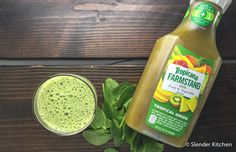 Giveaway: Tropicana Farmstand Tropical Green Juice & A Delicious Green Smoothie | Slender Kitchen Last chance to enter the Tropicana​ Juice giveaway!  #FarmstandGreen #ad #sponsored