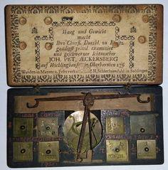 3-Balance-de-changeur-allemande-AECKERSBERG-de-1760-RARE Balance, Vintage World Maps, Scale, Ebay, Beautiful, Art, Bartenders, Crates, German Language