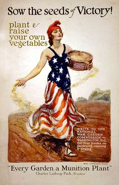 Free to use - vintage americana gardening print (WWII era?)