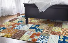 I like the idea of a quilted rug...