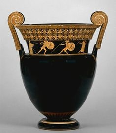 Achilles and Hektor/Memnon fighting Attic red-figure volute krater Berlin Painter ca. 490-460 BC London, British Museum, 1848,0801.1
