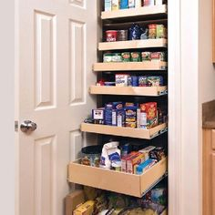 Pull out pantry shelves.