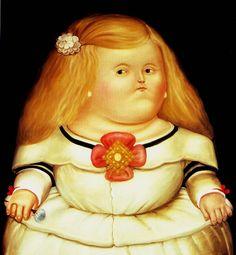After Velasquez Aka Menina2 By Fernando Botero