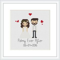 These make wonderful gifts for weddings, christmas, birthdays, etc! * This portrait listing is for a custom cross stitched PATTERN * Price varies on number of characters. *** If you want completed cross stitch portrait, please contact me!*** Upon ordering: - Select the number of figures you would like to include (this includes pets), and text color. Figures can be of any age. If you have more than 2 figures, please contact me ahead of time so we can discuss your order. As this is a custom…