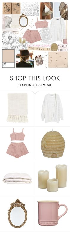 """LITTLE LOVER"" by cappvccino ❤ liked on Polyvore featuring Surya, Violeta by Mango, Anniel, Inglow and Le Creuset"