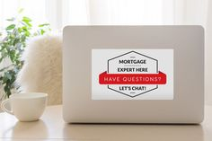 Mortgage Expert Decal - White & Red