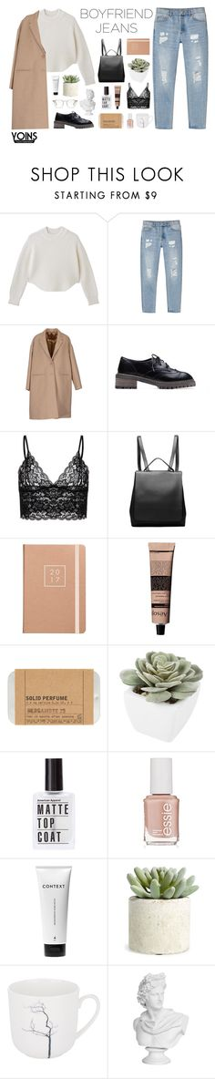 """""""Boyfriend Jeans - Yoins"""" by hiddlescat ❤ liked on Polyvore featuring Monki, Neil Barrett, Aesop, Le Labo, Abigail Ahern, Essie, Context, Allstate Floral, Dibbern and EASTON"""
