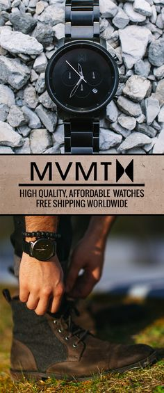 The Chronograph Watch has a rich history, adopted by early aviators and astronauts as a pivotal tool for precise timing. This inspired us to take precise function and fuse it with the minimalist MVMT style to bring you the MVMT Chrono Series. The MVMT initiative is to continue bringing you new, high quality, stylish products, that won't break the bank. Casual or formal, your wrist is covered.