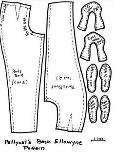 Ellowyne 16-in. doll pants {print in A4 format}