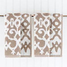 Natural/Ivory Nomad Washcloths, Set of 2 | World Market
