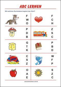 Anfangsbuchstaben lernen | Mit welchem Buchstaben beginnt das Wort?