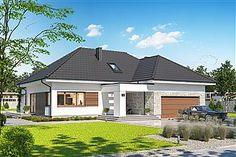 Projekt domu Padme 139,65 m2 - koszt budowy - EXTRADOM Village House Design, Village Houses, Bungalow House Plans, House 2, Architecture Design, Shed, Outdoor Structures, Outdoor Decor, Home Decor
