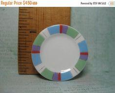 SALE Modern Striped Colorful Mini Plate Platter China Dish