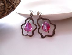 Hey, I found this really awesome Etsy listing at https://www.etsy.com/listing/93136071/wire-earrings-pink-glass-beaded-earrings