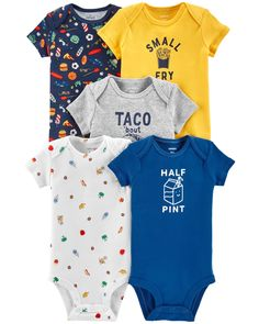 Kiss The Cook Babys Boys /& Girls Short Sleeve Bodysuit Outfits and Tee
