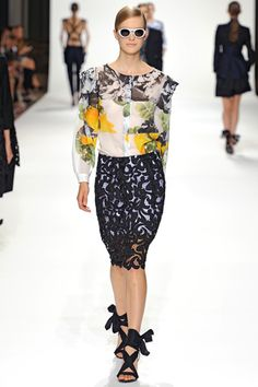 spring 2012 ready-to-wear  Dries Van Noten - one of my favorite shows this past month.