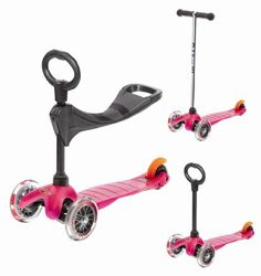 Mini Micro 3in1 Pink (Scooter Complete with Accessory):Amazon:Sports & Outdoors