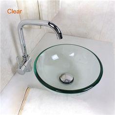 Waschbecken rund gäste wc  EU Lager)Modern Glas Waschbecken Mini für Gäste WC Rund Blau ...