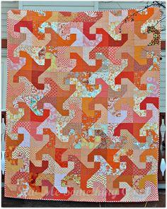 Orange + Twirly Blocks