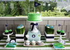 Super Inspiring Golf Party Tables! - B. Lovely Events