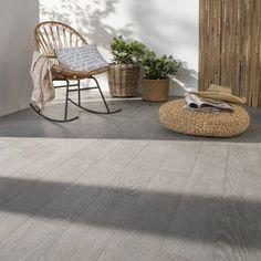Carrelage gris effet bois Tropic l.15 x L.90 cm