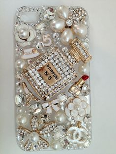 Crystal & Pearl Perfume Bottle Cellphone Case
