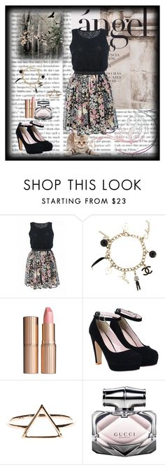 """Angel"" by cassy-style ❤ liked on Polyvore featuring Quiz, Chanel, Charlotte Tilbury and Gucci"