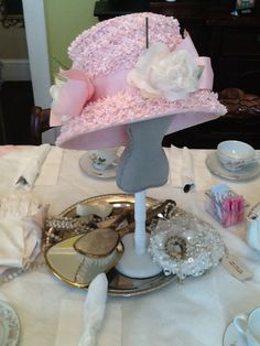 6 year old birthday party tea party theme 70th Birthday Ideas For Mom, Mom Birthday, Vintage Hats, Vintage Pink, Tea Party Theme, Pink Hat, Parties, Crafts, Fiestas