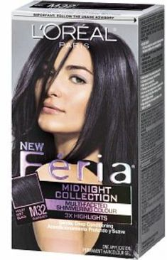 L'Oreal Paris Feria Midnight Collection, Violet Soft Black [M32] 1ea (Pack of 4) -- Click image for more details.
