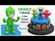 How to make Gekko from PJ Mask /Cómo hacer a Gekko para decorar tortas