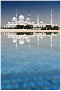 ~ Sheikh Zayed Grand Mosque ~  Photo credit: Andrew Shaylor