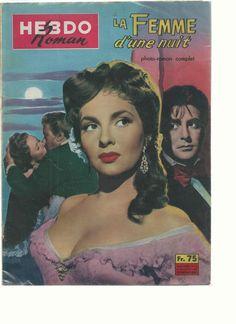 "Gina Lollobrigida Revue Photo Roman Film""LA Femme D'UNE Nuit""France BON Etat | eBay"