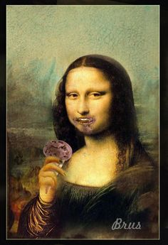 La Mona Lisa comiendo helado