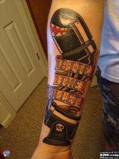 """Bullet bill tattoo """"bite the bullet"""""""