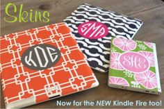 Order Ipad skins with your monogram from Jackie's Embroidery at 770-772-9777.