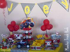 Landyn's 3rd birthday party theme!! Monster trucks!!!!!!