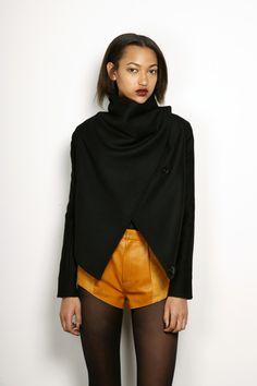 black wrap jacket.