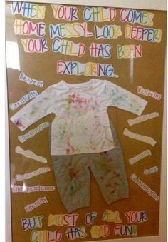 This conveys to families the importance of play to a child's learning in a m kindergrippe Reggio Emilia Classroom, New Classroom, Classroom Displays, Classroom Decor, Infant Classroom Ideas, Daycare Bulletin Boards, Preschool Bulletin, Preschool Activities, Preschool Parent Board