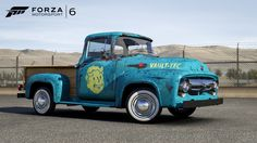 Forza Motorsport 6 Gets Fallout Ford - Entertainment Buddha Video Game Related Posts - Dessert 1956 Ford Truck, F100 Truck, Ford Trucks, Forza Motorsport 6, Fallout, Jeux Xbox One, Ford Company, Pip Boy, Vault Tec