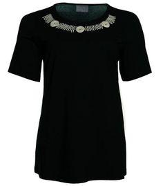 T-Shirt in Übergröße für Damen von Sempre Piu, Schwarz – Bild 1