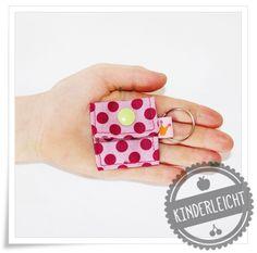 KINDERleicht und schön   Nähen mit Cherrygrön: Schlüsselanhänger Chiptäschchen