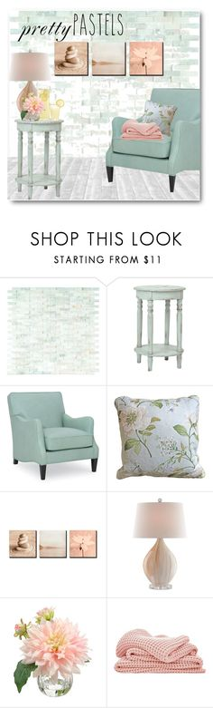 """Pastel home"" by fashion-film-fun ❤ liked on Polyvore featuring interior, interiors, interior design, home, home decor, interior decorating, WALL and Sheridan"
