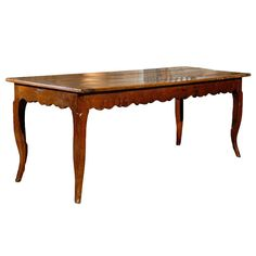 19th Century French Fruitwood Farm Table 1