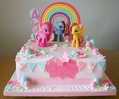 My Little Pony Cake - For all your cake decorating supplies, please visit craftc. My Little Pony Party, Bolo My Little Pony, Cumple My Little Pony, My Little Pony Cupcakes, Mlp Cake, Cupcake Cakes, Pinkie Pie Cake, Festa Rainbow Dash, Cake Rainbow
