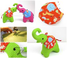 """Free """"Trunk Up"""" Elephant Pattern   Sew Mama Sew   Outstanding sewing, quilting, and needlework tutorials since 2005."""