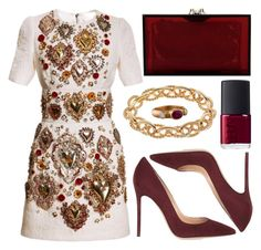 """""""street style"""" by sisaez ❤ liked on Polyvore featuring Dolce&Gabbana, Gianvito Rossi, Apt. 9, Reinstein/Ross, Charlotte Olympia and NARS Cosmetics"""